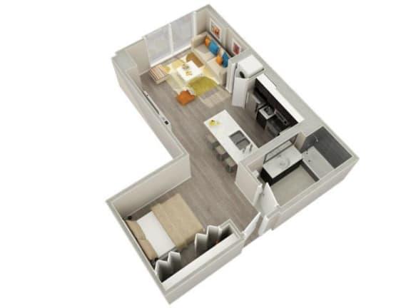 Floor Plan  Convertible (03) Floorplan at Catalyst, Chicago, IL, 60661