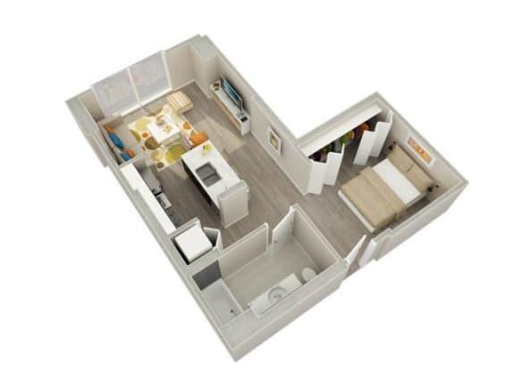 Floor Plan  Convertible (08) Floorplan at Catalyst, Chicago, IL, 60661