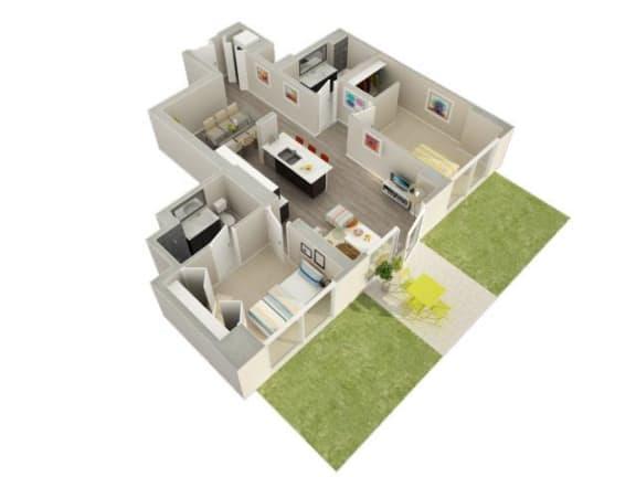 Floor Plan  2 Bedroom 2 Bath A Floorplan at Catalyst, Chicago, IL, 60661