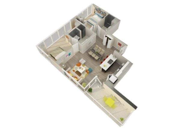 Floor Plan  2 Bedroom 2 Bath F Floorplan at Catalyst, Chicago, IL, 60661