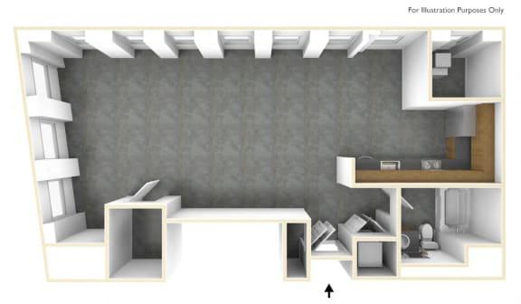 Floor Plan  Loft Bedroom Apartment Floor Plan Haverhill Lofts