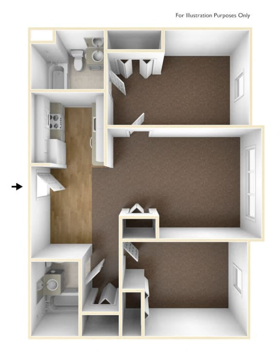2-bedroom apartment at Walkover Commons in Brockton, MA