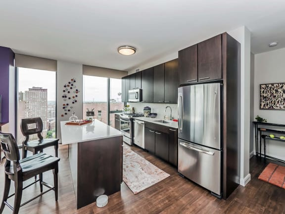 Eat-in Kitchens at State & Chestnut Apartments, 60610, IL