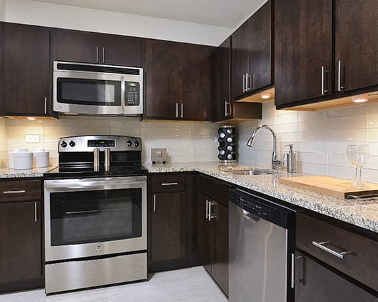 Kitchens with GE Energy Star Appliances at Park Lincoln by Reside, 2470 N Clark St, 60614-2746