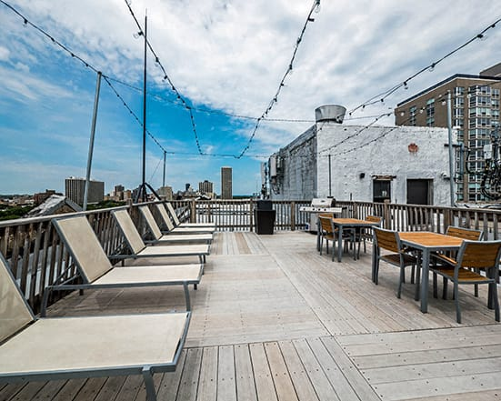Roof Deck at Reside on Clarendon
