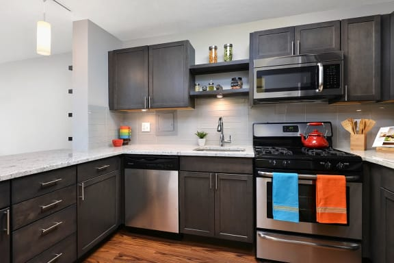 Spacious Kitchen with Pantry Cabinet at Reside on North Park, Chicago, IL,60614