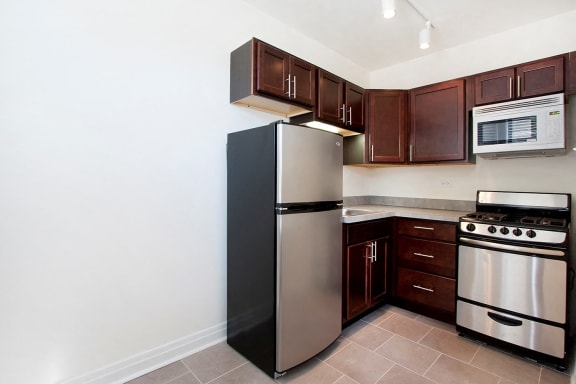 Kitchens with GE Energy Star Appliances at Reside at 823, Chicago, IL,60613