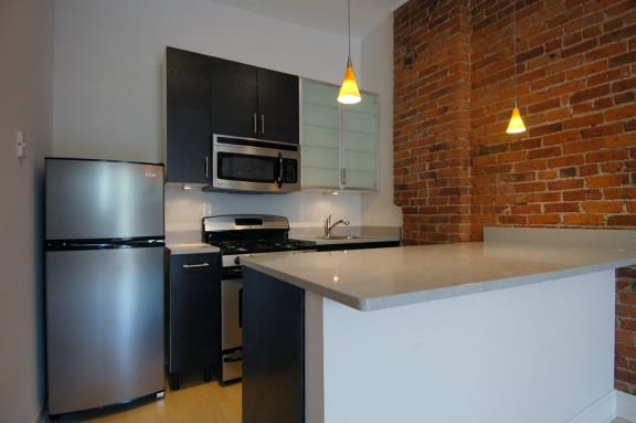 All Electric Kitchen at Reside on Clark, Chicago, IL,60614