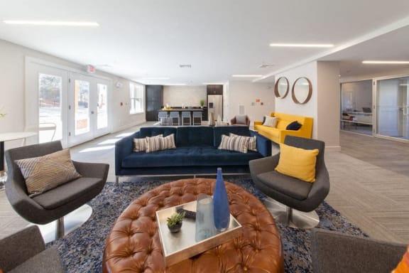 Community Room at Linea Cambridge in Cambridge, MA, 02140