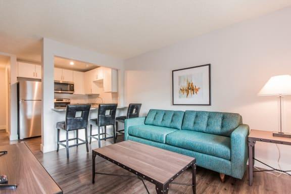 Modern Living Room at -The Lodge-, Boulder, 80303