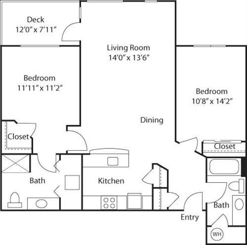C2- 55+ Adult Living Floorplan at Reunion at Redmond Ridge, Washington, 98053