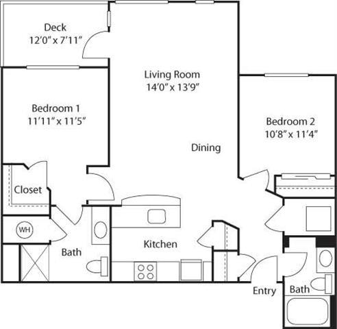 C4B- 55+ Adult Living Floorplan at Reunion at Redmond Ridge, 11315 Trilogy Pkwy NE