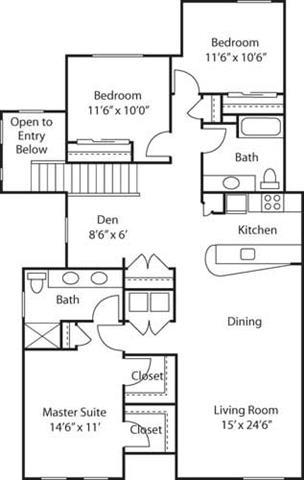 G3 with Den- 55+ Adult Living Floorplan at Reunion at Redmond Ridge, Redmond, Washington