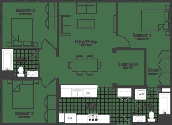 Floor Plan  Floor Plan at Park87, Cambridge