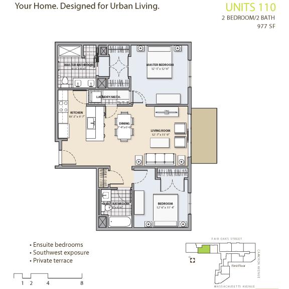 Floor Plan at 7 Cameron, Cambridge,Massachusetts