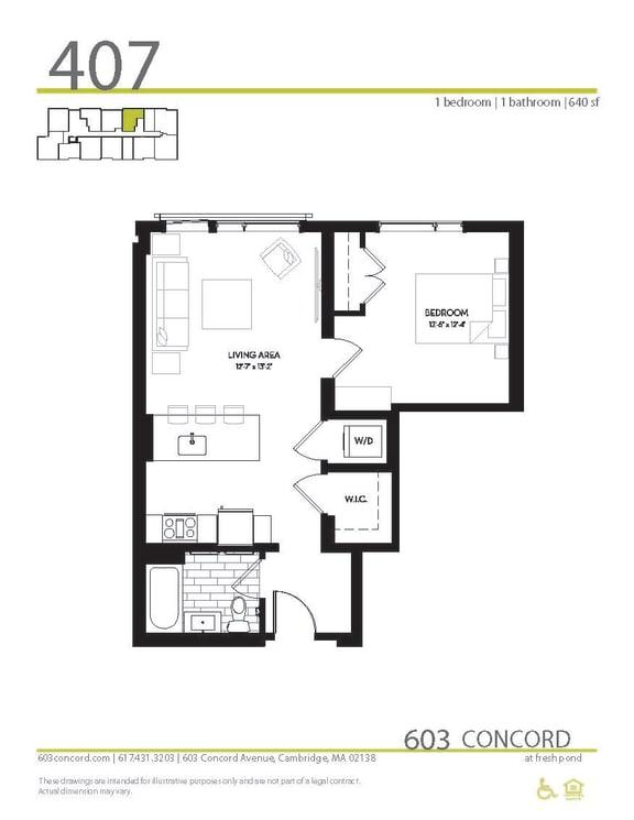 Floor Plan at 603 Concord, Cambridge, MA