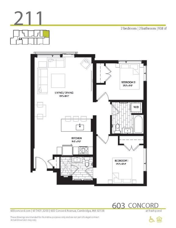 Floor Plan at 603 Concord, Cambridge,Massachusetts