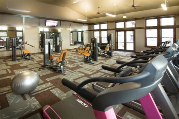 Cardio Equipment In Gym at The Trails at Timberline, Colorado