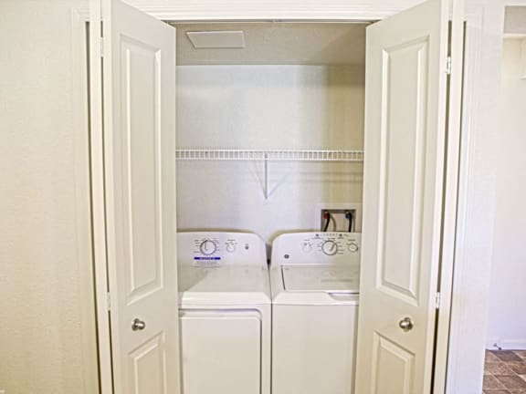 In-Unit Full-Sized Washer and Dryer Set at Andover Pointe Apartment Homes in La Vista, NE