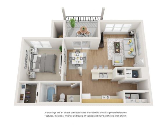 Floor Plan  Boxelder Floor Plan at Maple Knoll Apartments, Indiana, 46074
