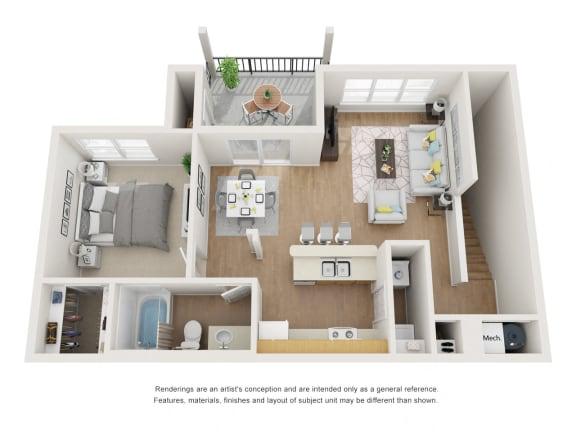 Floor Plan  Coral Bark Floor Plan at Maple Knoll Apartments, Indiana, 46074