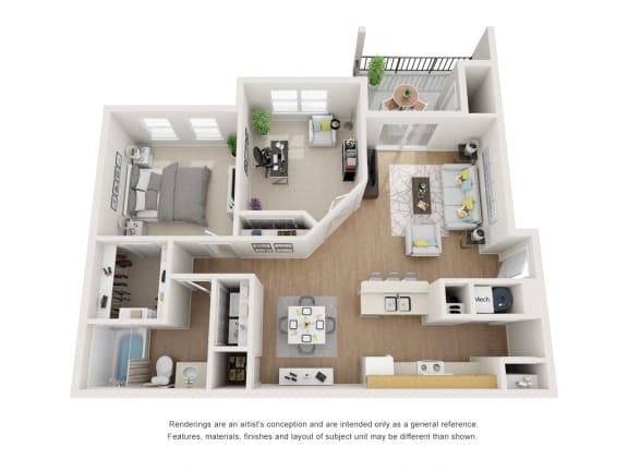 Floor Plan  Norway Floor Plan at Maple Knoll Apartments, Indiana, 46074