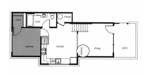 Morrison Floorplan at Russellville Commons, Portland, OR, 97216