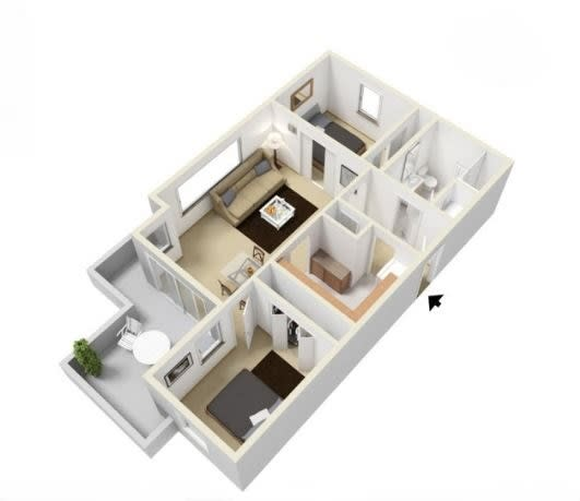 Ross Island Floorplan at Russellville Commons, Portland, OR, 97216