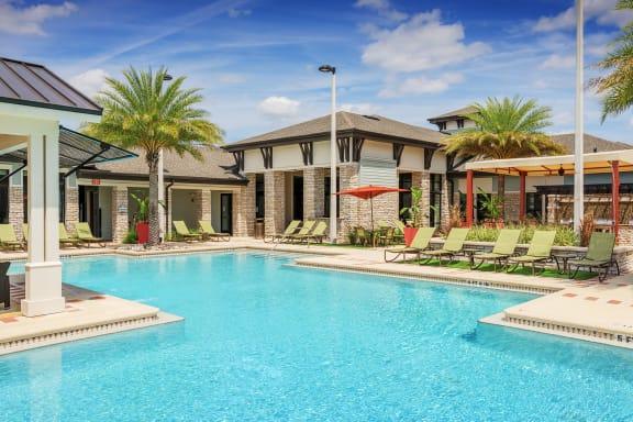 Nona Park Village Apartments pool area resort-style swimming pool