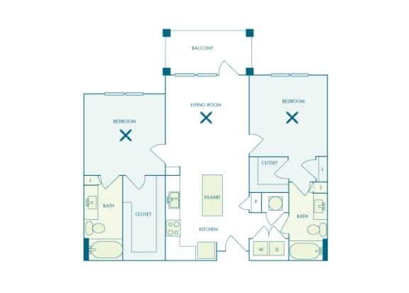 Nona Park Village - B1 (Iris) - 2 bedroom - 2 bath