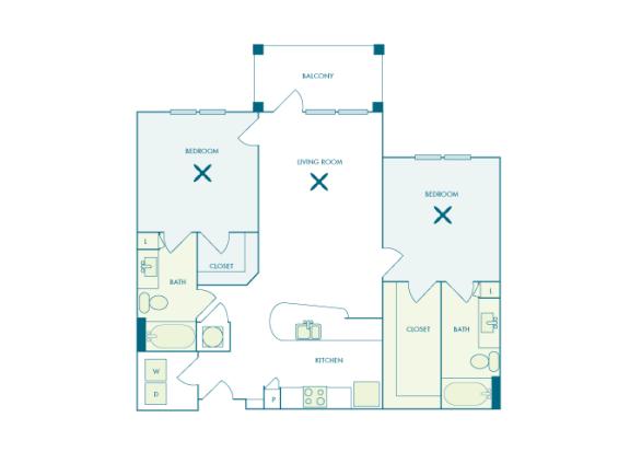 Nona Park Village - B2 (Jasmin) - 2 bedroom - 2 bath