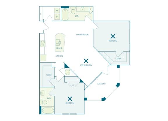 Nona Park Village - B3 (Orchid) - 2 bedroom - 2 bath
