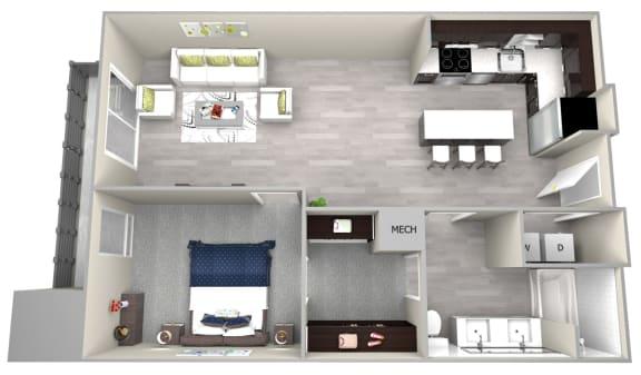 Chattahoochee Riverside A1 Floor Plan
