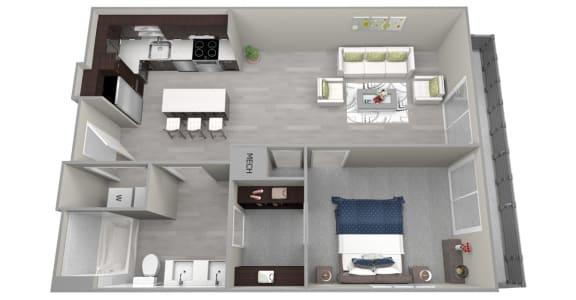 Chattahoochee Riverside A2 Floor Plan