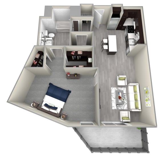 Chattahoochee Riverside A3 Floor Plan