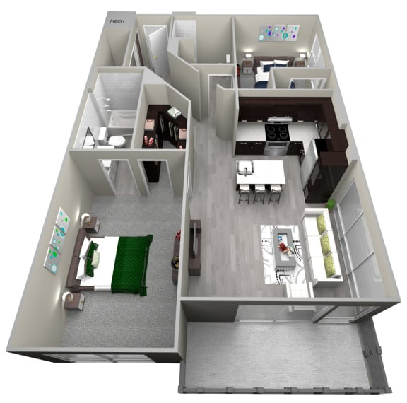 Chattahoochee Riverside B2 Floor Plan