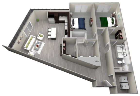 Chattahoochee Riverside B3 Floor Plan