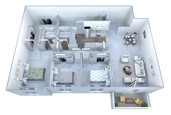 Walton Grove H Floor Plan Layout, Smyrna GA