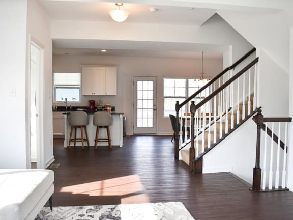 High ceilings at Highland Village townhouses in Pittsburgh 15229