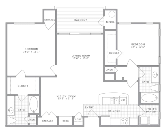 B1 Special Floor Plan at AVE Union, Union, NJ, 07083