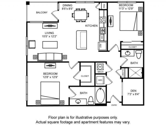 Floor Plan  Floorplan at The Ridgewood by Windsor, Fairfax, 22030