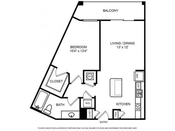 Floor Plan  Floorplan at The Ridgewood by Windsor, 4211 Ridge Top Road, VA 22030