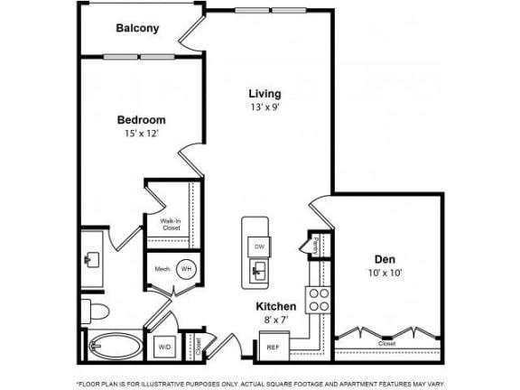 Floor Plan  Floorplan at The Ridgewood by Windsor, Fairfax, VA 22030