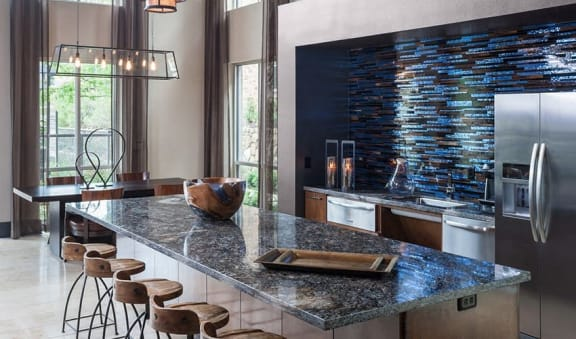 Trendy Clubhouse with Demonstration Kitchen at Berkshire Medical District, Dallas, TX, 75219