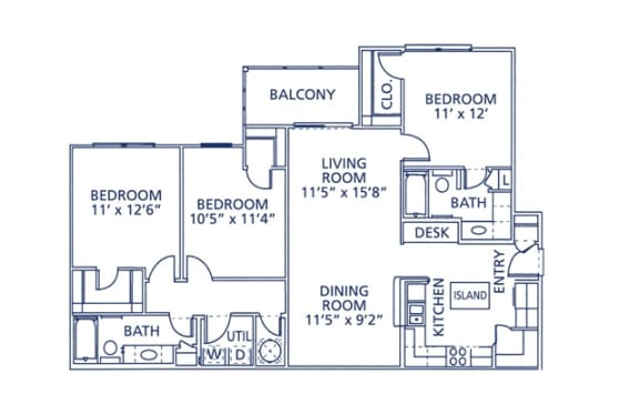 Ogelthorp Floor Plan at Berkshire at Citrus Park, Tampa, 33625