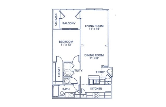 Percival Floor Plan at Berkshire at Citrus Park, Tampa, Florida