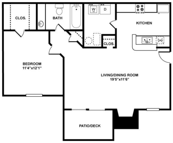The Hampton Floor Plan at The Berkshires at Vinings, Smyrna, GA