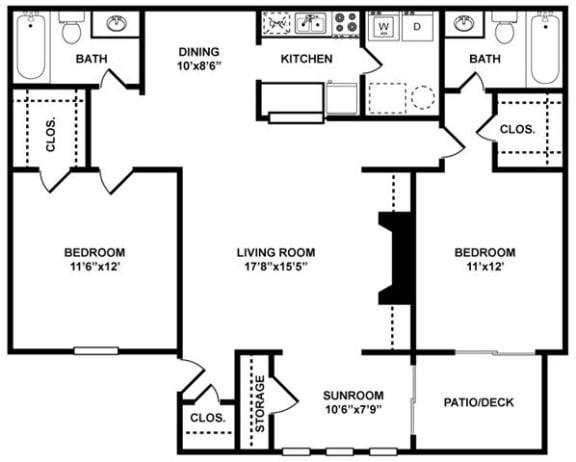 The Davenport Floor Plan at The Berkshires at Vinings, Smyrna, Georgia