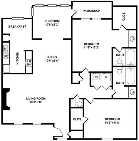 The Englewood Floor Plan at The Berkshires at Vinings, Smyrna