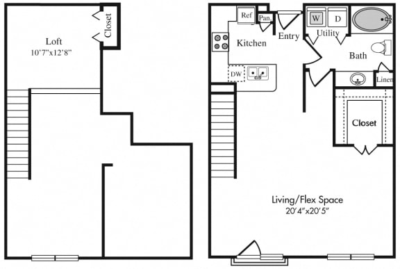 A4L Floor Plan at The Plaza Museum District, Houston